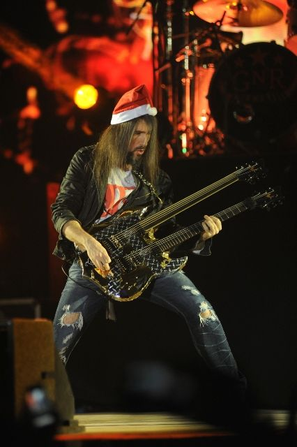 Ron Bumblefoot Thal at Guns N Roses show in Mumbai. Photo: Bobin James