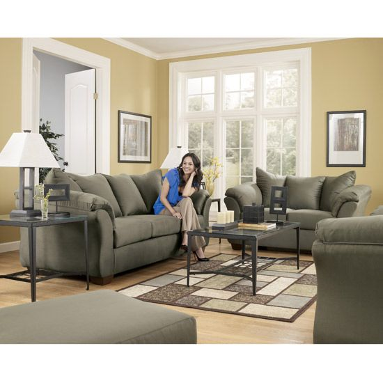 Click to Enlarge Image of Darcy Sage Living Room Set