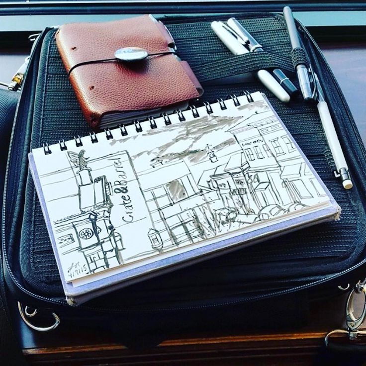"109 Likes, 2 Comments - Etchr (@etchr_lab) on Instagram: ""Some great #urbansketch work from @aisazia on the original #nomadartsatchel⠀ ⠀ ⠀ #drawing #art #ink…"""