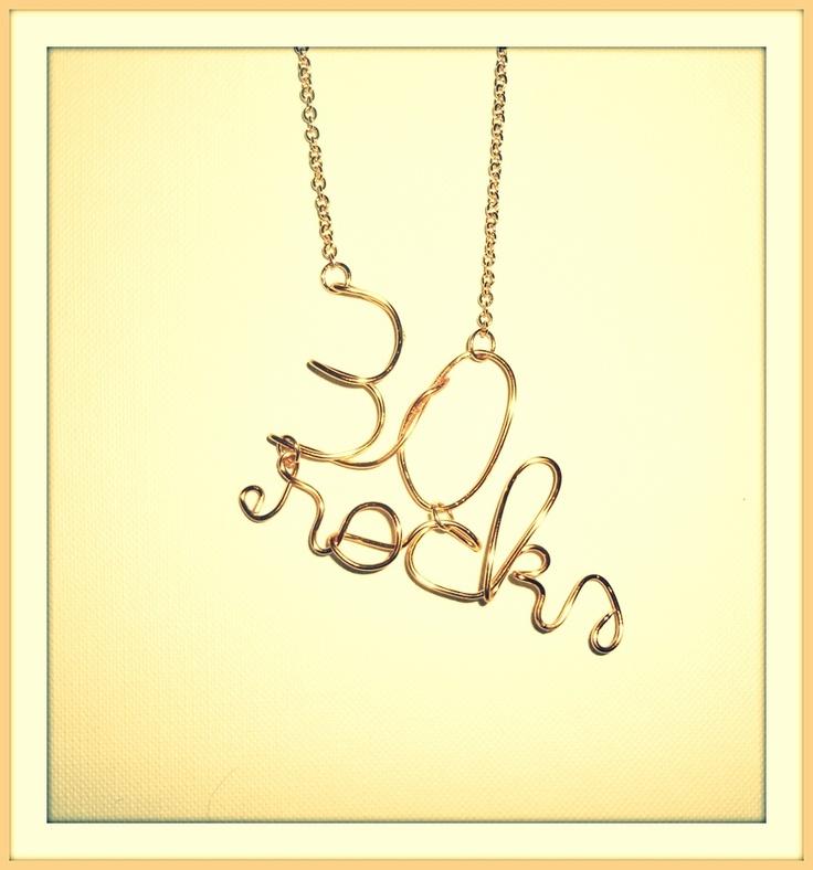 Golden handmade necklace
