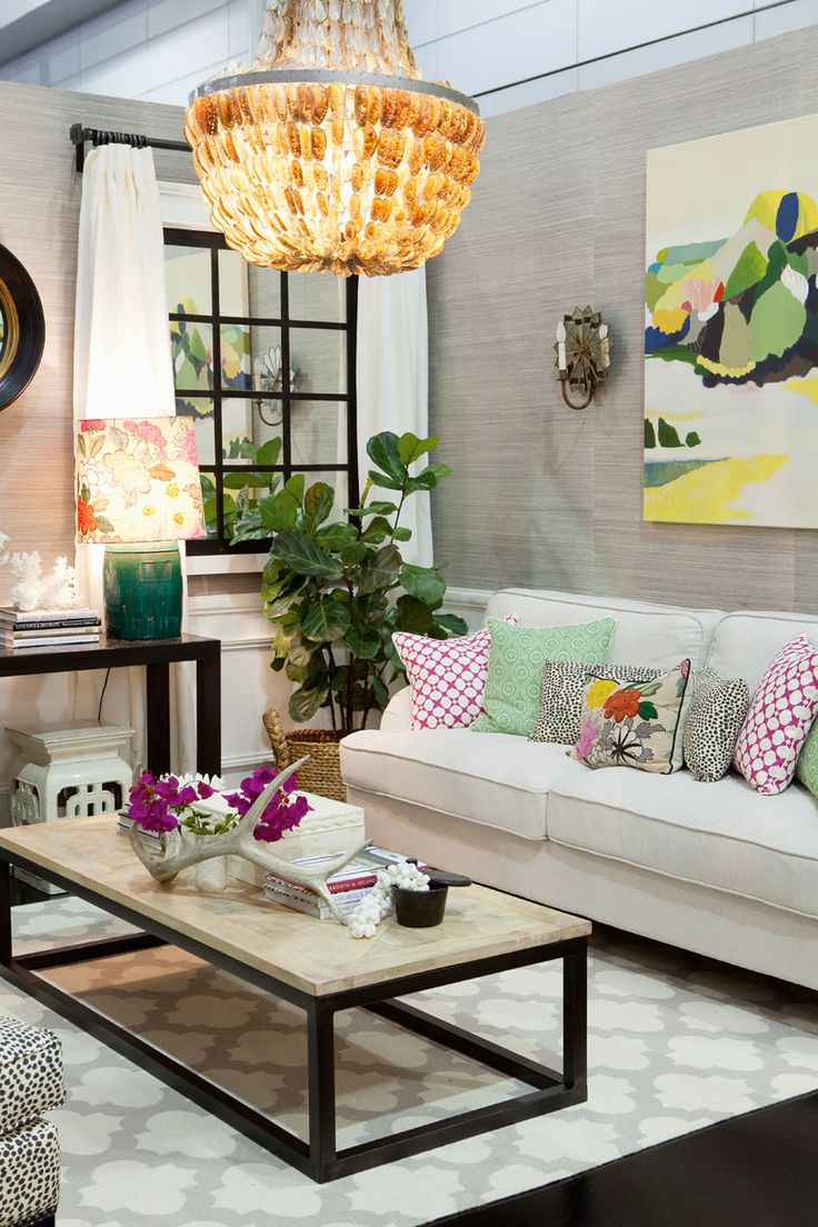 Queensland Homes Blog » HIA Rooms of Inspiration 2013 | Natural materials, colourful patterns and Caribbean accessories create an inviting, vibrant living room. We can certainly see ourselves reclining here!