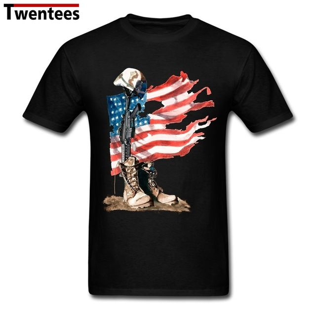 Promotion price Latest Short Sleeve Cotton Fallen American Flag Men t shirt Male t shirt For Sale just only $12.10 with free shipping worldwide  #tshirtsformen Plese click on picture to see our special price for you