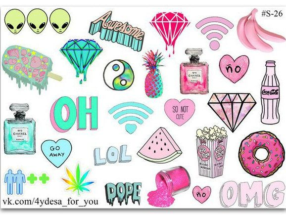 Tumblr sticker sheet| Planner Stickers | Kawaii cute | by topstickerdesigns on Etsy