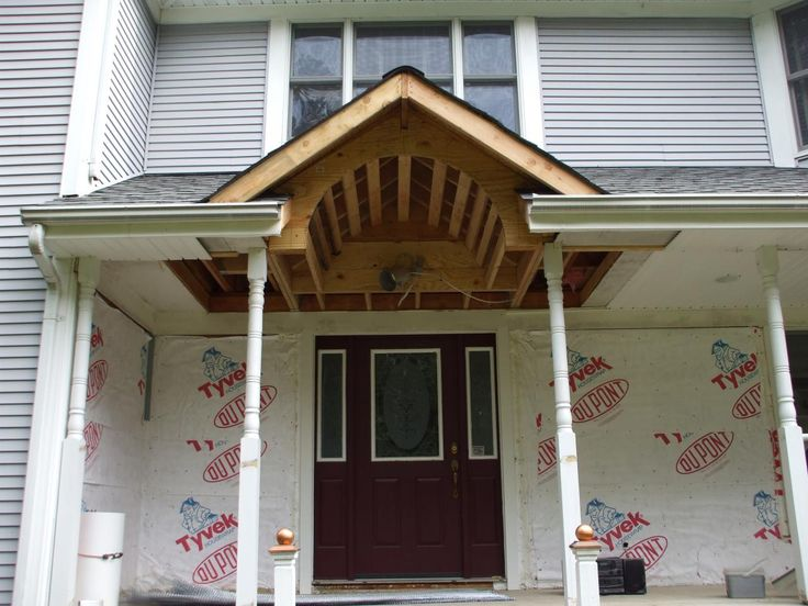 55 best images about porch roof designs on pinterest for Shed style porch roof