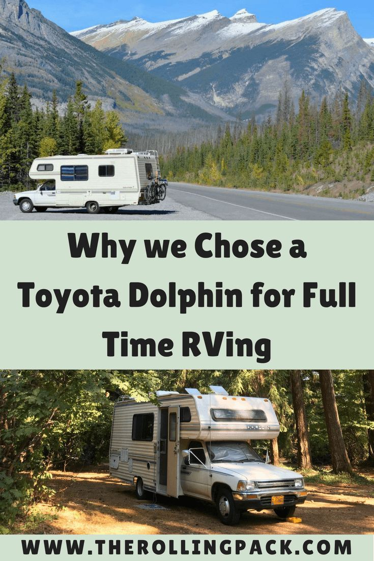 Why We Chose A Toyota Motorhome The Rolling Pack Toyota Motorhome Motorhome Accessories Toyota Dolphin