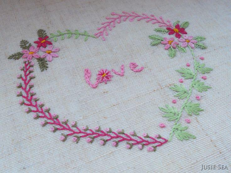 Jusie Sea. Handmade: Цветочное сердце