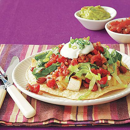 Chicken and Red Bean Tostadas by All You. MyRecipes recommends that ...