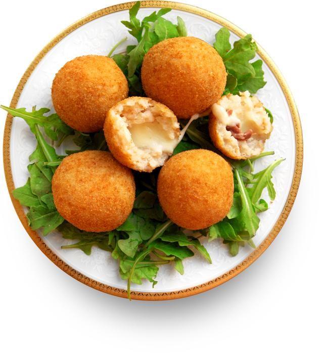 Рисовые шарики с сыром и ветчиной (Suppli al telefono) Италия. Куда деть вчерашний рис