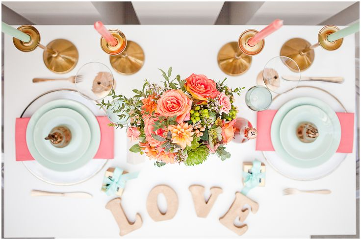 33 best coral mint wedding inspiration board images on for Table coral sample