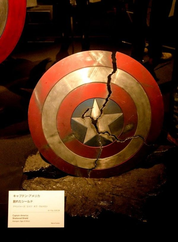 C'est pas moi qui a cassé le bouclier de #CaptainAmerica ! Exposition Marvel #Comic