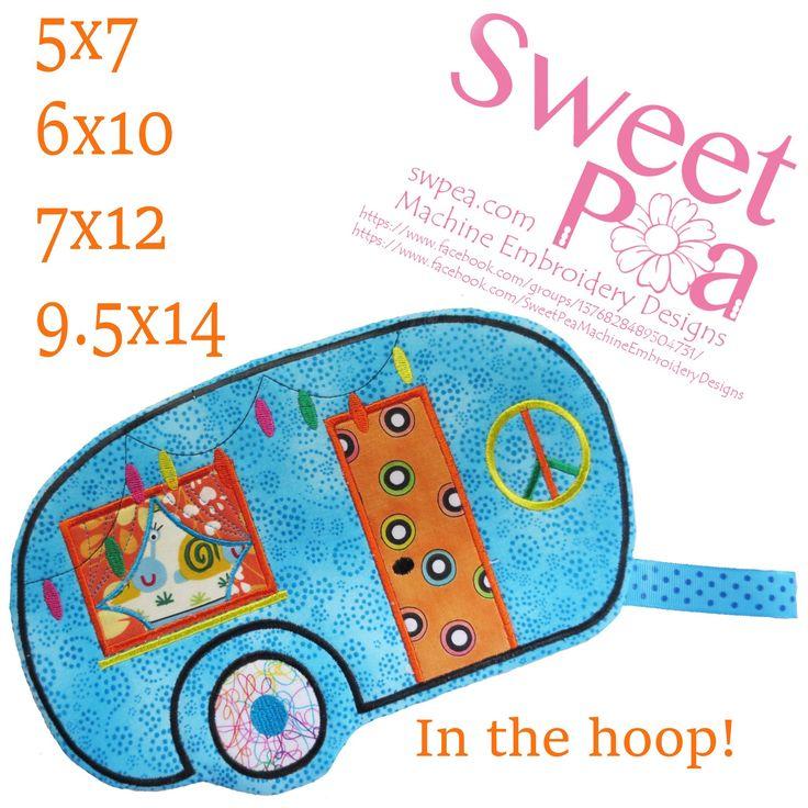 Caravan mugrug oven glove 5x7 6x10 7x12 9.5x14 in the hoop machine embroidery
