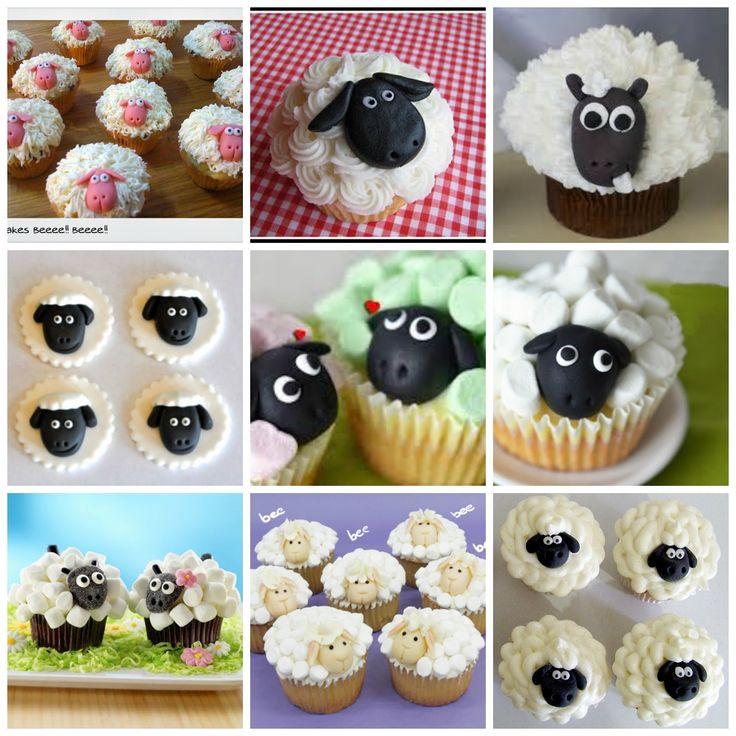 TUTORIAL PASO A PASO Cuando vi circulando por Internet una cupcake con forma de oveja me pareció de lo mas tierno y gracioso. Muy apetecible...