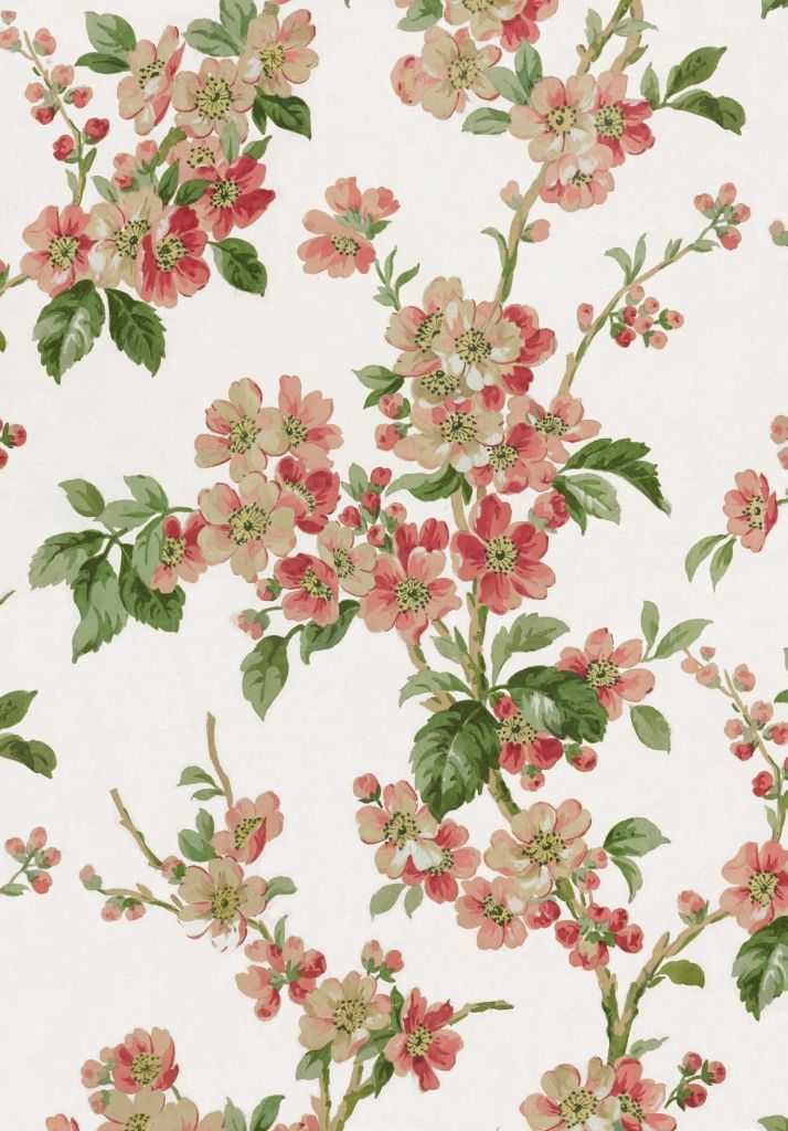Blossom Hand-painted paper design, 1900 Summer 2014