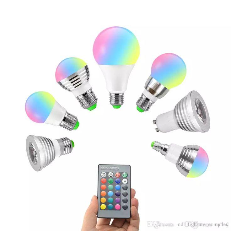 Dimmable E27 E14 Gu10 85 265v 110v 220v 3w 10w Rgb Led Bulb Led Lamp Night Light Spotlight Remote Controller For Holiday Light Dimmable Bulb Rgb Bulb Led Bulb