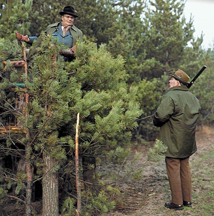 Leonid Brezhnev and Josip Broz Tito on hunting trip, 1979.