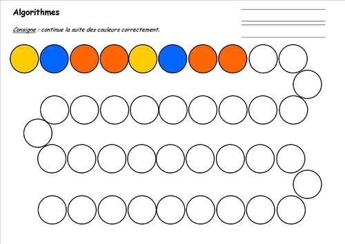 ALGORITHMES | Algorithme maternelle, Algorithme, Jeux ...