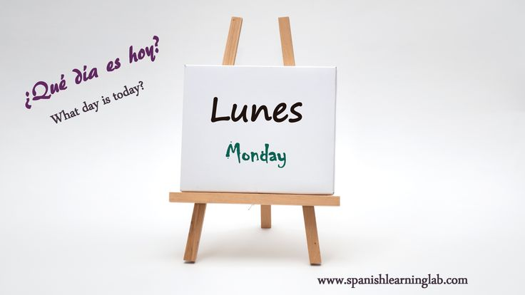 This is how we say Monday in Spanish and ask what day is today in this language.¡Qué tengas un buen lunes!