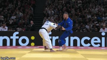 The best throw of the Paris Grand Slam (according to IJF)… Osoto-gari by Jorge Fonseca (-100kg), my fellow country man!  This guy is like Pitbull! Love his Judo!