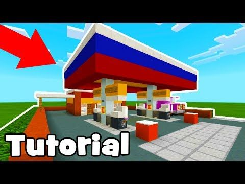Minecraft Tutorial: How To Make A Petrol Station