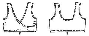 Crossover Sport Bra Sewing Pattern (lingerie secrets at sewinglingerie.com)