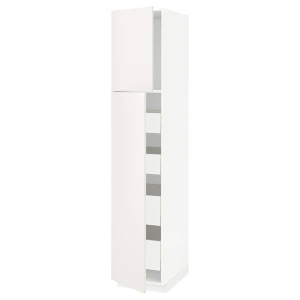 Metod Maximera Armoire 2 Portes 4 Tiroirs Blanc Veddinge Blanc 40x60x200 Cm Ikea En 2020 Armoire 2 Portes Armoire Ikea Tiroir