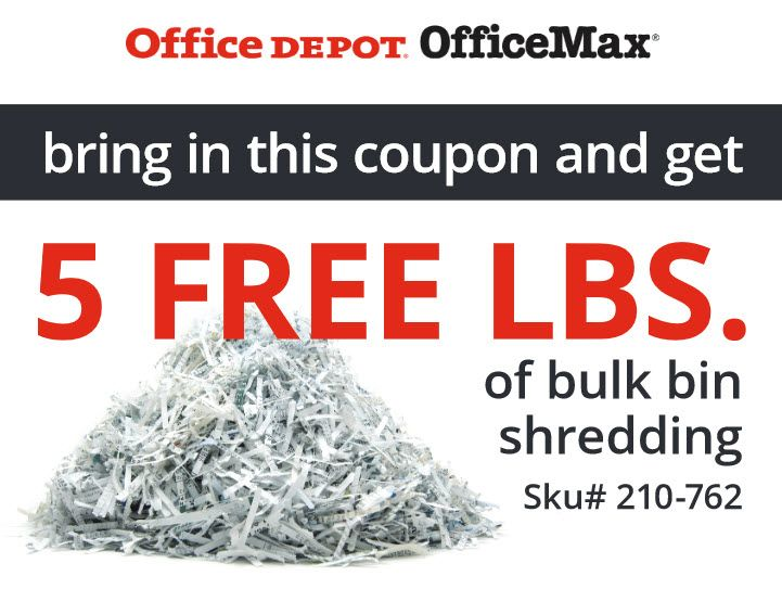 Office max paper shredding