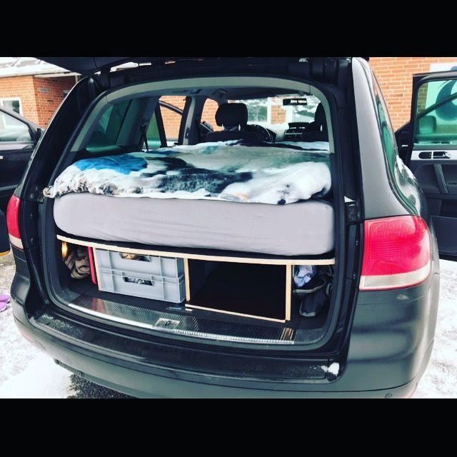 Vw Touareg 7l Diy Ausbau Siebdruckplatte Im Auto Schlafen Car