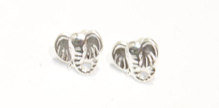 Elephant .925 Sterling Silver Screw Back Earrings Kids Earrings by DiamantadosofFlorida on Etsy