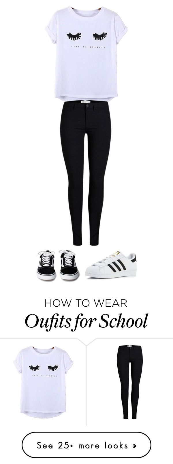 """This is perfect outfit for school"" by nikica-bobnar on Polyvore featuring Chicnova Fashion and adidas"