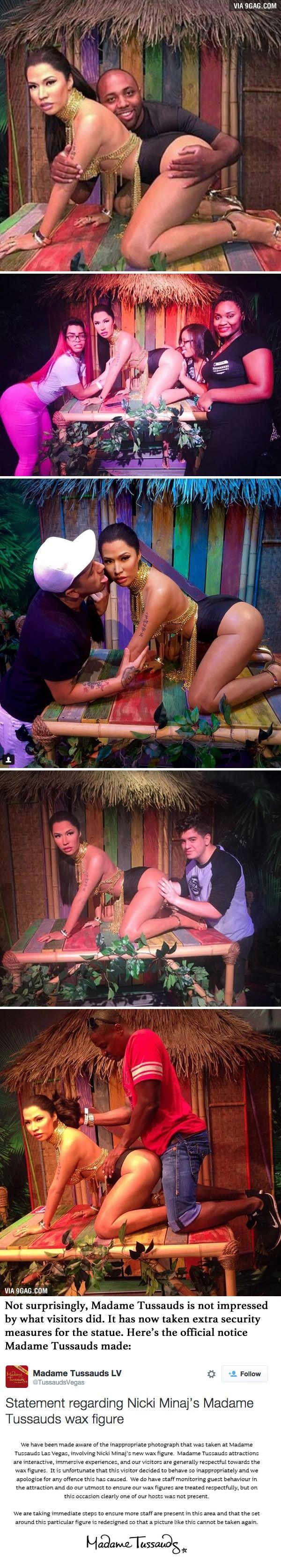 Visitors Keep Harassing Nicki Minaj's Wax Statue And Madame Tussauds Is Not Impressed