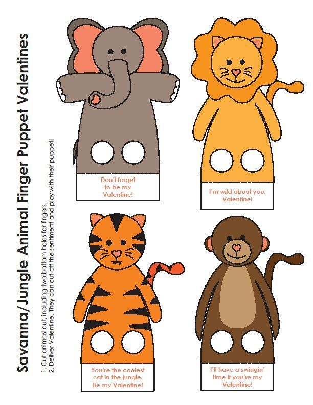 Moldes de Dedoches de Animais para Imprimir - Espaço Infantil