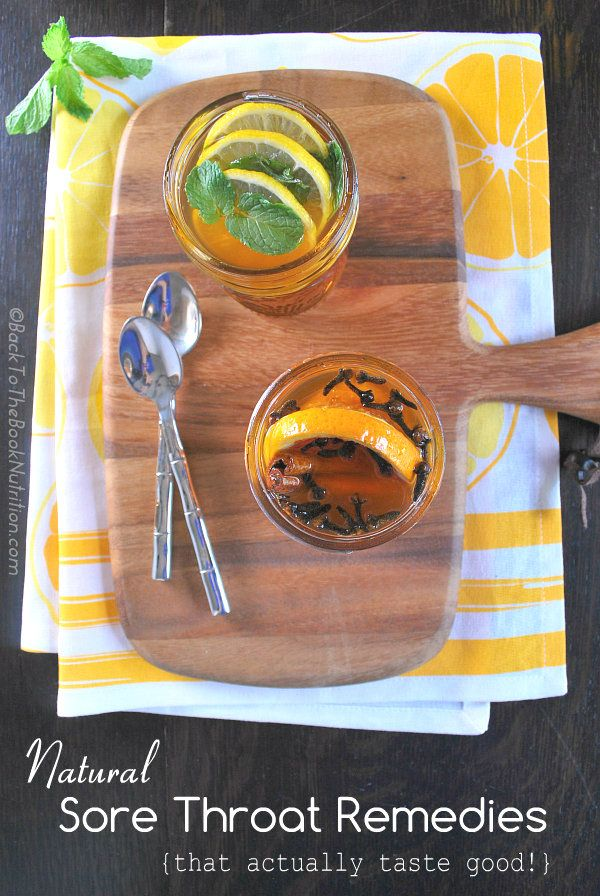Natural Sore Throat Remedies That Actually Taste Good | Back To The Book Nutrition