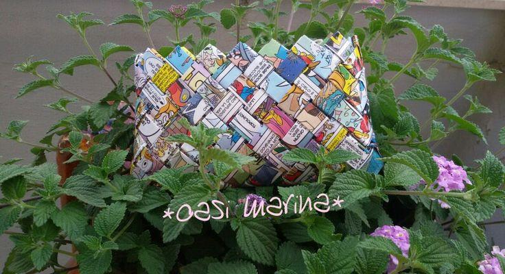 oasimarina * Borsellino * carta * Topolino * fatto a mano * fatto con amore  * paper *  mickey mouse * handmade * made with love * my hobby *DIY