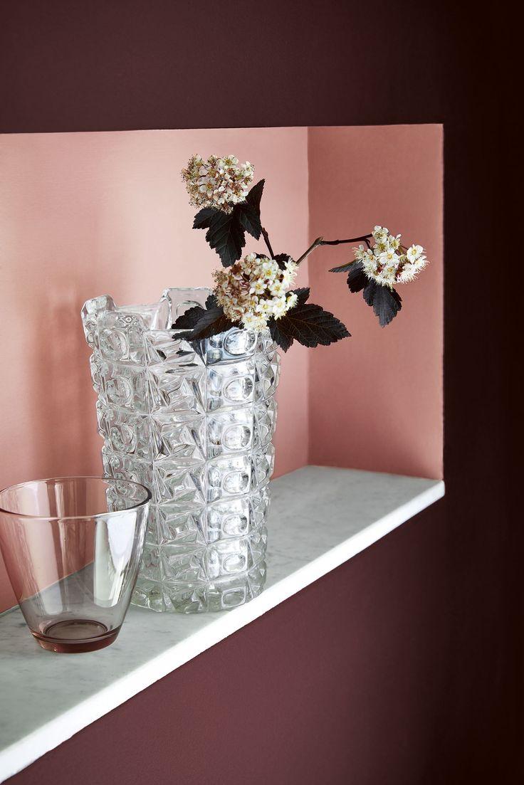 Nieuwe collectie 'Pink' van Little Greene Paint. Gebruikte kleuren: Cordoba 277, Blush 267