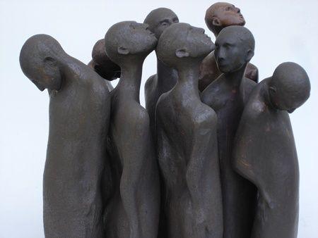 """Ceramic Figures 1,"" by sculptor Jo Jones"