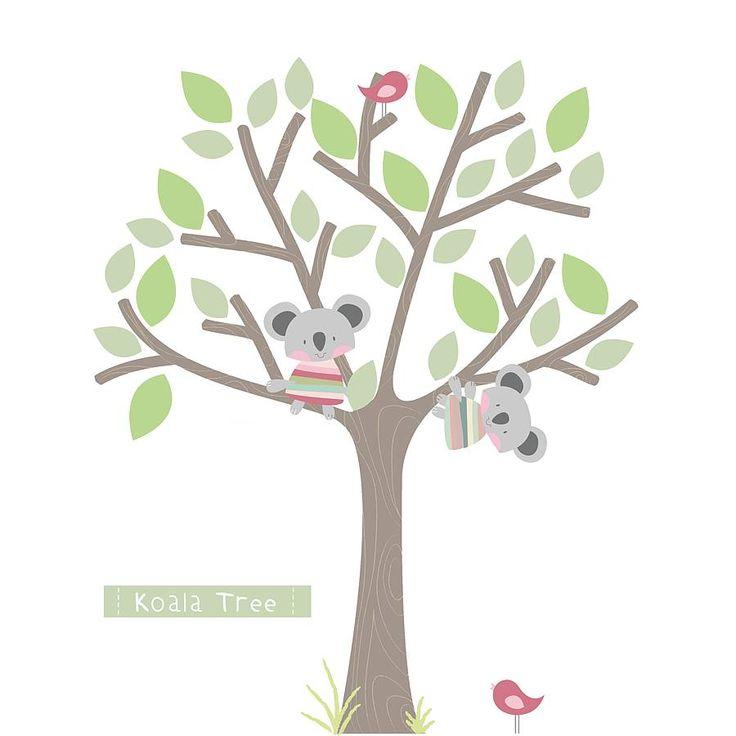 Koala Tree Fabric Wall Stickers