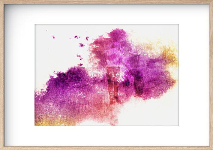 Watercolour Wash - Pink, Purple and Yellow  www.mynarrartive.com