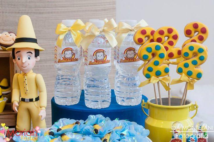 Festa George o curioso | Água decorada george o curioso | Festa infantil | bday | Party | Festa de menina | Decoração by Mariah festas #georgeocurioso
