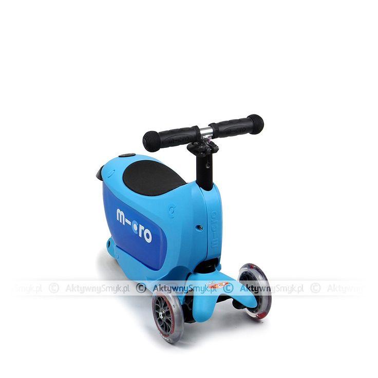 Niebieski Micro Mini2Go - jeździk i hulajnoga