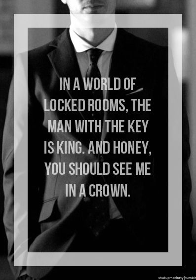 You have to love Moriarty - some of the lines he comes out with though.