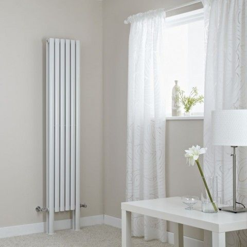 Milano Aruba Plus - White Vertical Designer Radiator with Feet 1800mm x 354mm (Double Panel) - http://www.bestheating.com/milano-aruba-plus-white-vertical-designer-radiator-with-feet-1800mm-x-354mm-double-panel.html