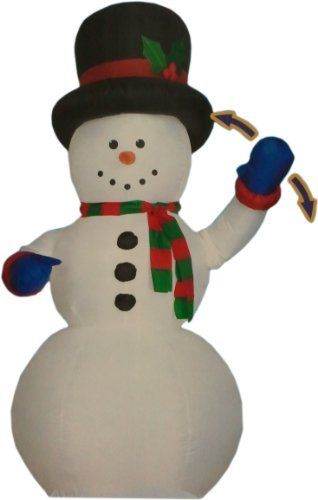 Inflatable Musical Snowman by GEMMY. $59.99. Everything Included. Lights Up. Easy 1-2-3 Set Up. For Indoor and Outdoor Use. Weather Resistant. Singing, waving... Frosty's got nothin' on this Inflatable Musical Snowman, SAVE BIG! So you think your Snowman can dance? Snowy here may not be the lightest on his feet, but he makes up for with enthusiasm! Ready to spring into action, he dispenses holiday cheer far and wide with songs, lights and waving motion. Nothing better to ad...