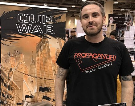 At Toronto Comicon 2018, Luke Henderson talked about Our War and the new trade paperpack, plus forthcoming new issues. He talked about the new series War Bats plus the positive response from readers.