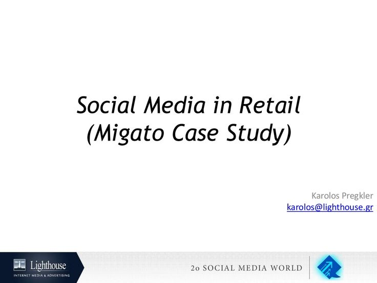 Social Media World 2013 - Πρέγκλερ Κάρολος: Social Media in Retail (Migato Case Study)