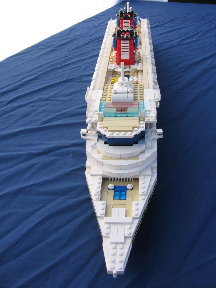 Lego Disney Cruise Ship Full View