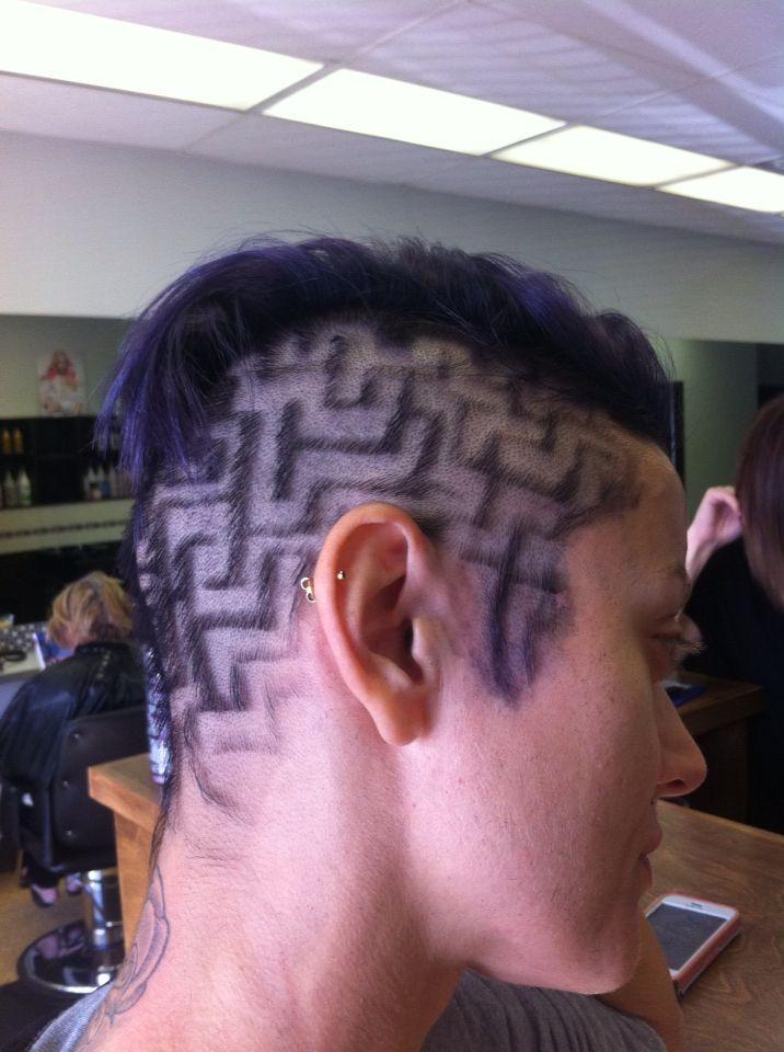 Purple Maze - Hair tattoos by Gord.