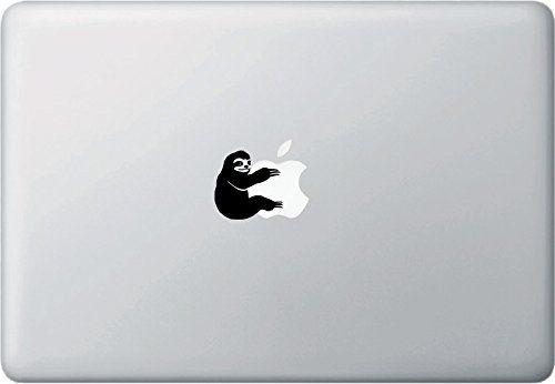 "Sloth Hugging Design 1 - D1 - Laptop Decal - Copyright © 2015 Yadda-Yadda Design Co. (1.5""w x 1.5""h) (BLACK)"