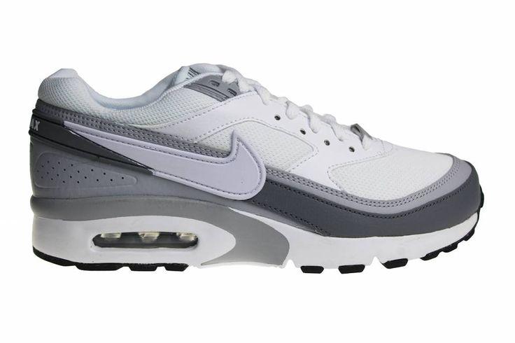 Nike Air Max BW (GS) schoenen voor jongens en meisjes. Air Max BW schoenen in het wit met grijs zijn erg geliefd onder de Air Max BW fanaten.