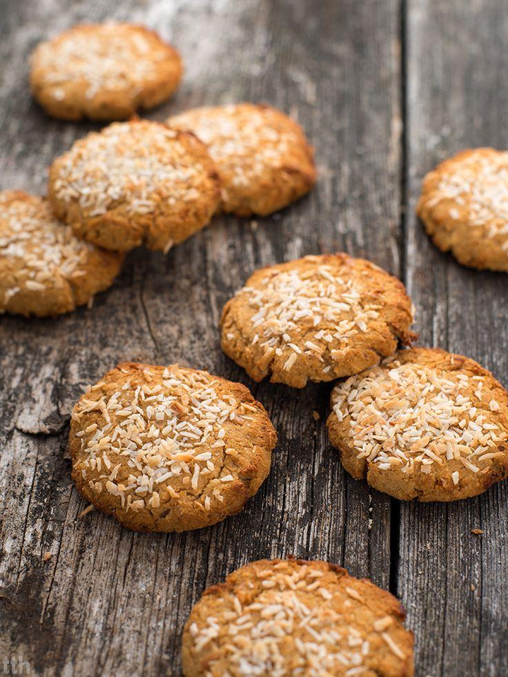 Kokosowo-orzechowe ciasteczka z fasoli weganskie, bezglutenowe, bez cukru