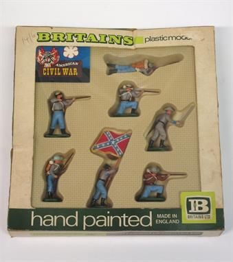 Lot 30 – Britains American Civil War – Vintage Toys and Militaria 08 Jan 2014 http://www.candtauctions.co.uk/
